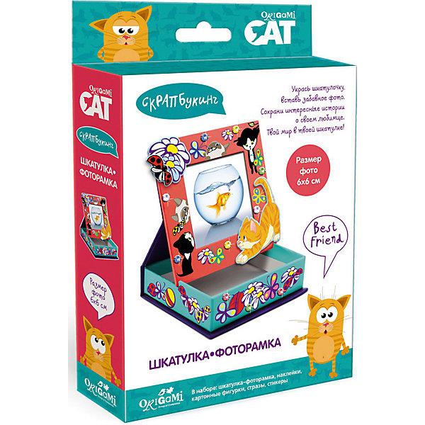 Origami Скрапбукинг Origami Cat Шкатулка-фоторамка