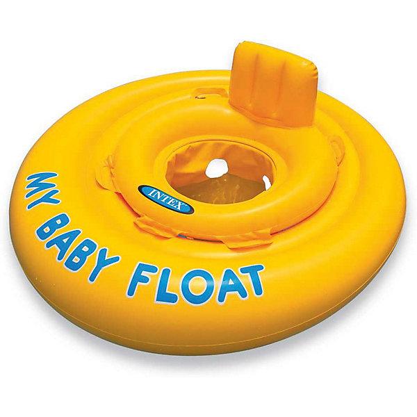 Круг для плавания с трусами Intex My baby float, 70 см, Китай, разноцветный, Унисекс  - купить со скидкой