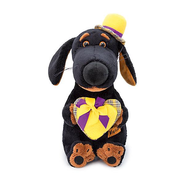 Budi Basa Мягкая игрушка Собака Ваксон с сердцем, 25 см