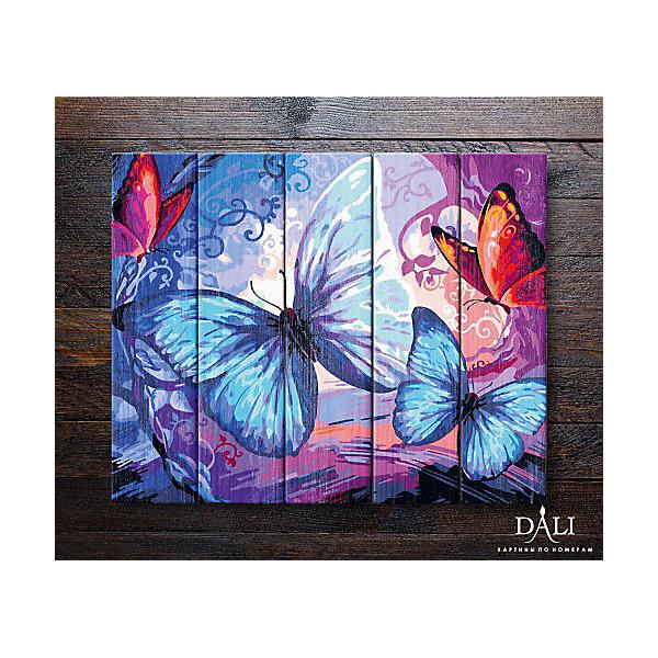 Купить Картина по номерам по дереву ДАЛИ Бабочки , Dali, Россия, Унисекс