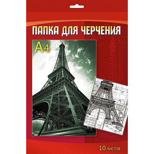 АппликА Папка для черчения Апплика Эйфелева башня 10 листов А4