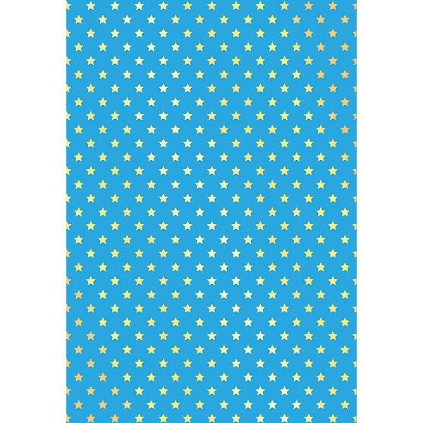 АппликА Цветной поделочный картон Апплика Звёздочки 4 листа А4, с тиснением