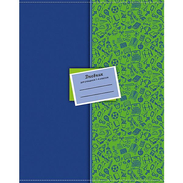 АппликА Школьный дневник Апплика Школьный паттерн 48 листов, для младших классов канцелярия апплика дневник для младших классов юный гонщик 48 листов