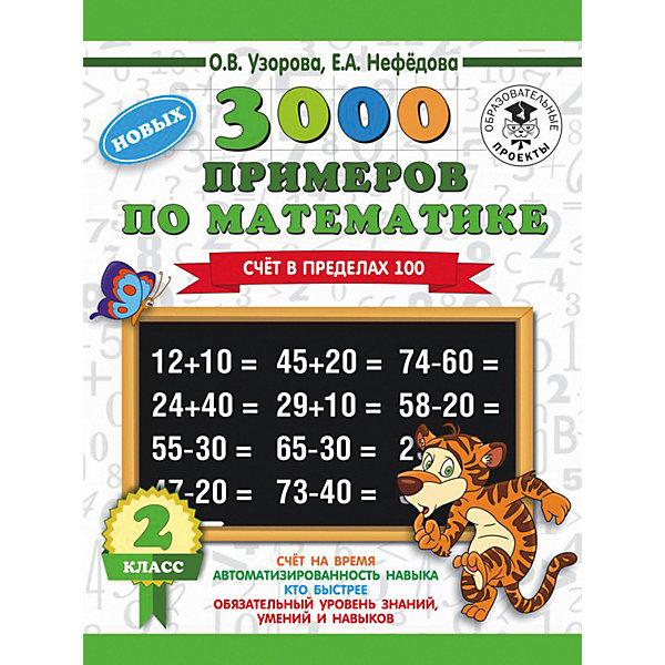 Фото - Издательство АСТ Развивающая книга 3000 примеров по математике Счет в пределах 100, 3000 примеров для начальной школы, 2 класс о в узорова е а нефедова 3000 примеров по математике 2 класс счёт в пределах 100 часть 2