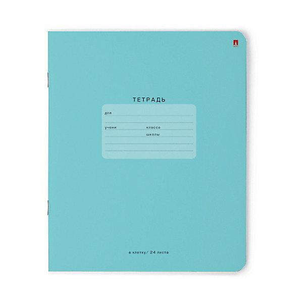 Альт Тетрадь One color-голубой, 24 листа, клетка, 10 шт