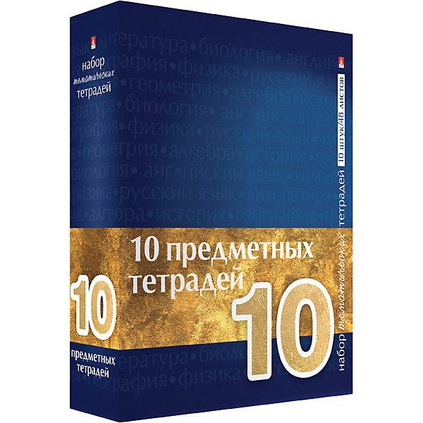 Альт Набор тематических тетрадей Крафт, синяя коробка