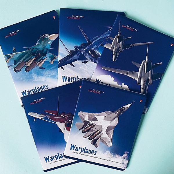 цена Альт Тетрадь Альт Военные самолеты, 48 листов, клетка, 5 шт онлайн в 2017 году