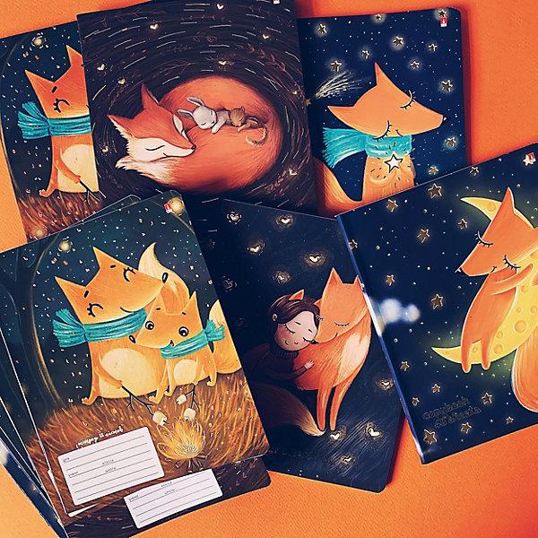 Купить Тетрадь Альт Волшебные лисы, 18 листов, клетка, 10 шт, Россия, Унисекс