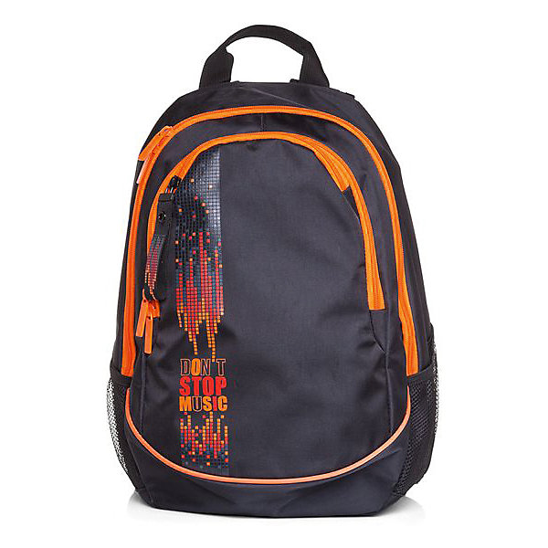 Рюкзак Hatber Street, Dont stop musicРюкзаки<br>Характеристики:<br><br>? материал: полиэстер<br>? без наполнения<br>? размер рюкзака: 30*42*20 см<br><br>Рюкзак имеет пару вместительных отделений, одно из которых со встроенным органайзером. Также есть один карман спереди, закрывающийся на молнию, 2 дополнительных боковых с сеткой и 1 потайной сзади. Он подойдет на каждый день благодаря прочной износостойкой внутренней ткани, спинке эргономичной формы с вентилируемыми вставками из губчатого материала, усиленному дну и лямкам с возможностью регулировки под рост.