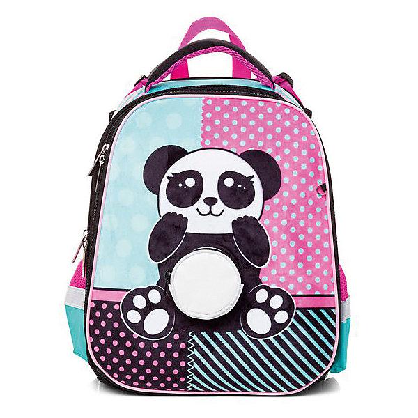 Hatber Ранец Hatber Ergonomic, Panda hatber ранец школьный hatber ergonomic plus eva 2 отд 2 кармана светоотраж camo army
