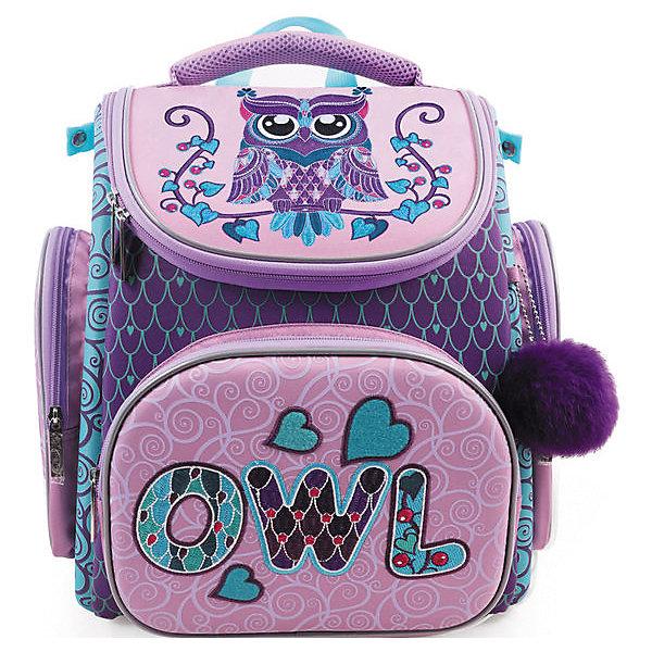 Hatber Ранец Hatber Compact Plus, Owl hatber ранец школьный hatber ergonomic plus eva 2 отд 2 кармана светоотраж camo army