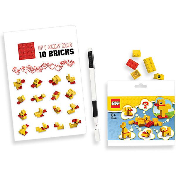 LEGO Записная книжка LEGO Classic Duck Build, с ручкой и мини-фигурой, 192 листа записная книжка в клетку classic фиолетовая pocket