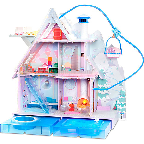 Фото - MGA Дом для кукол MGA L.O.L. Зимнее Шале мебель для кукол iq format в домик для кукол lol колыбелька и качалка бежевый