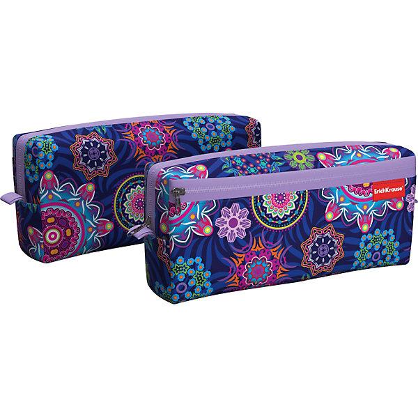 Купить Пенал квадро c двумя отделениями Erich Krause Color Circles, Россия, фиолетовый, Женский
