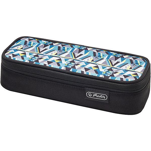 Купить Пенал-косметичка Herlitz Cube Clutter, Германия, schwarz/blau, Мужской