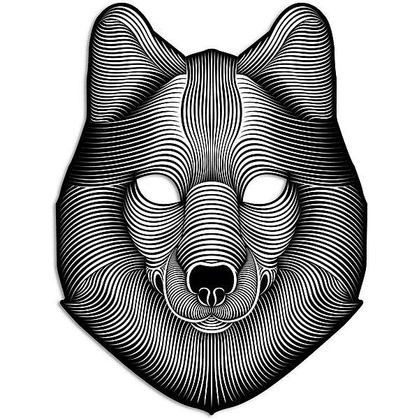 Купить Cветовая маска GeekMask Shadow Wolf , со звуком, Китай, разноцветный, Унисекс