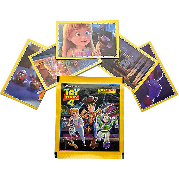 Panini Наклейки История игрушек, 1 пакет с 5 наклейками