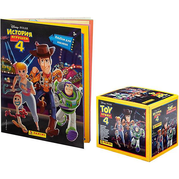 Panini Альбом История игрушек и бокс с наклейками, 36 пакетиков в боксе