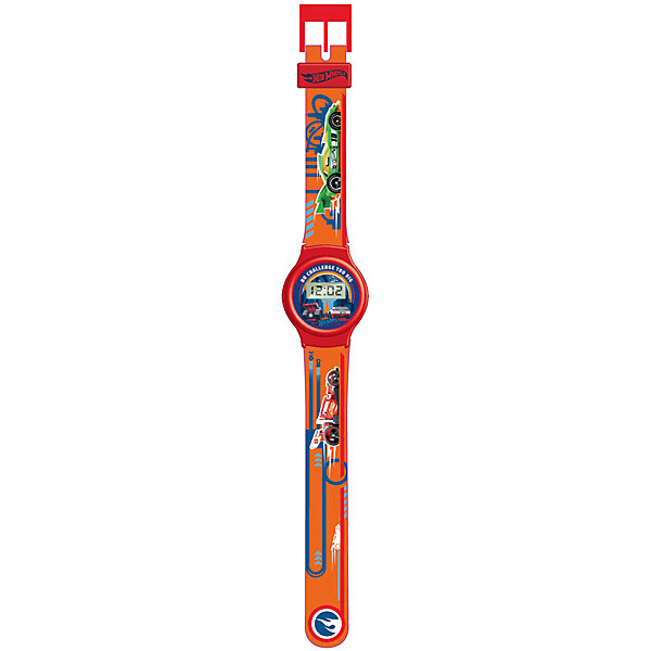 Купить Электронные наручные часы Kids Time Hot Wheels, Детское время, Китай, оранжевый, Мужской