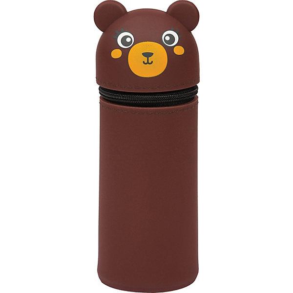 Berlingo Пенал мягкий Berlingo Bear, коричневый berlingo пенал berlingo spring