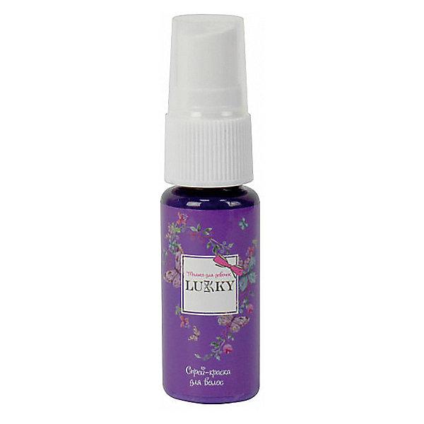 цена на Lukky Спрей-краска для волос Lukky ароматизированная, сиреневая, 20 мл