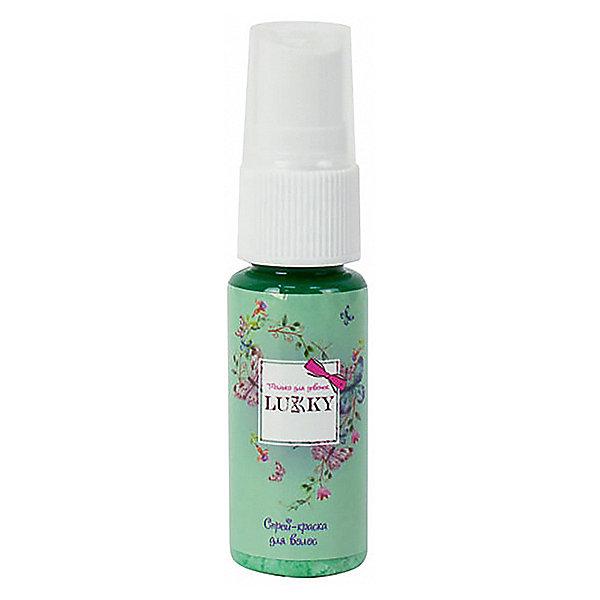 цена на Lukky Спрей-краска для волос Lukky ароматизированная, бирюзовая, 20 мл