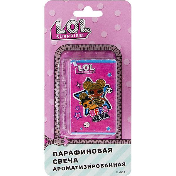 ND Play Аромасвеча L.O.L.., бирюзовая с ярко-розовым