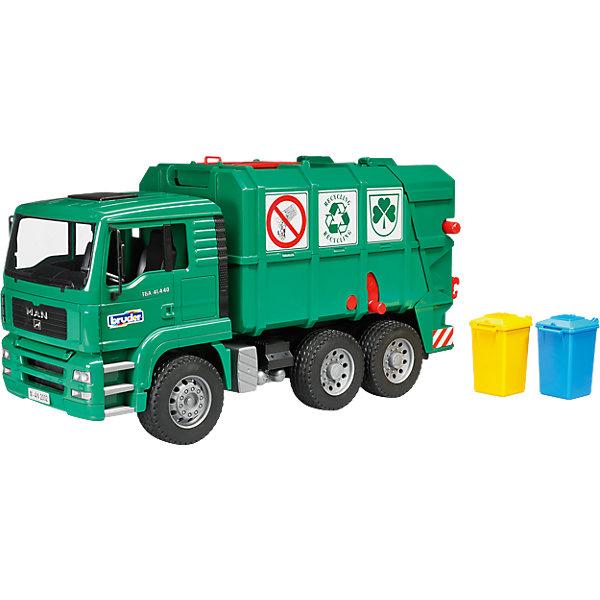 все цены на Bruder Мусоровоз MAN TGA, зеленый) , Bruder онлайн
