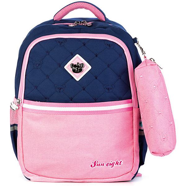 Aliciia Рюкзак Aliсiia, с пеналом, сине-розовый детский рюкзак xiaomi xiaoyang one body с пеналом розовый y2715 y0444