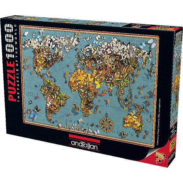 Anatolian Пазл Карта мира Бабочки, 1000 элементов