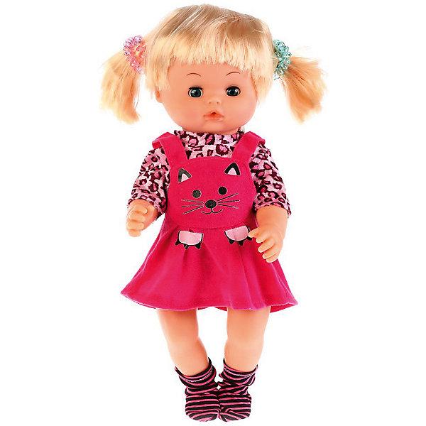 Карапуз Интерактивная кукла Алина с аксессуарами, 36 см, озвученная