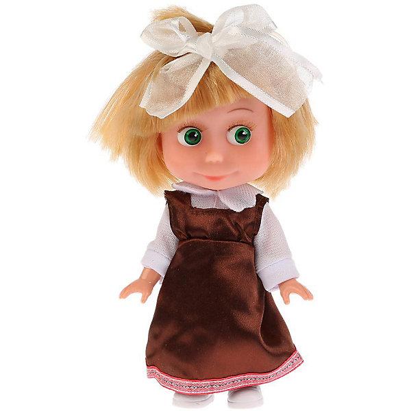 Купить Интерактивная мини-кукла Карапуз Маша и Медведь Маша школьница, 15 см, озвученная, Китай, Женский
