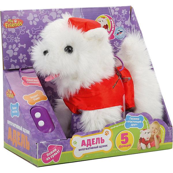My Friends Игрушка MY FRIENDS Интерактивный щенок Адель, 23 см развивающие игрушки tineo спираль my great friends
