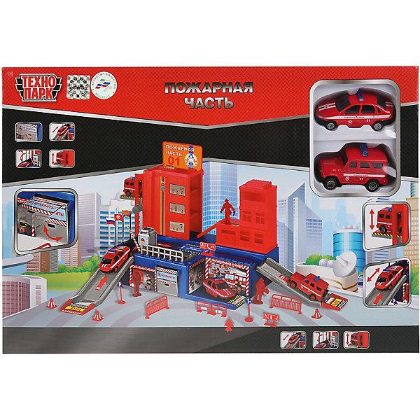 ТЕХНОПАРК Игровой набор Технопарк Пожарная часть: УАЗ, Лада, 2 машинки, 7,5 см набор машинок siku пожарная служба 1818rus