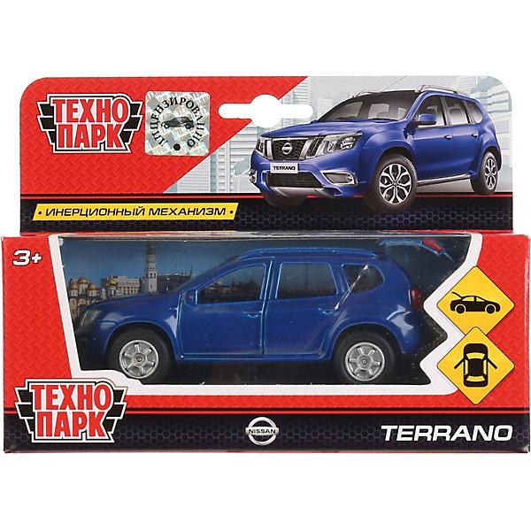 ТЕХНОПАРК Машинка Технопарк Nissan Terrano, инерционная, 12 см, синяя