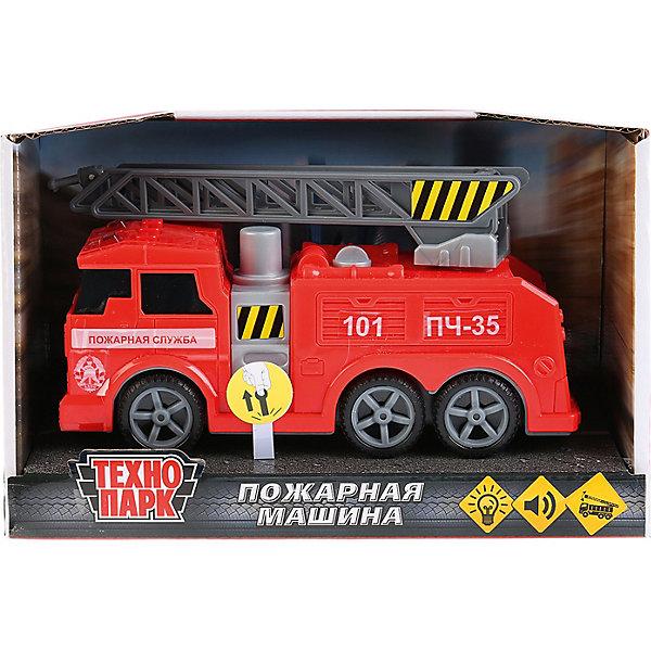 Купить Пожарная машина Технопарк , свет и звук, 17 см, ТЕХНОПАРК, Китай, Мужской