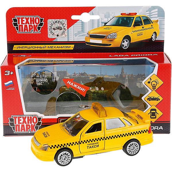 Купить Машинка Технопарк Лада Приора такси , инерционная, свет и звук, 12, 5 см, ТЕХНОПАРК, Китай, Мужской