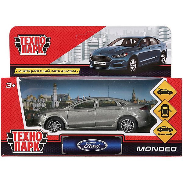 ТЕХНОПАРК Машинка Технопарк Ford Mondeo, инерционная, 12 см, серая