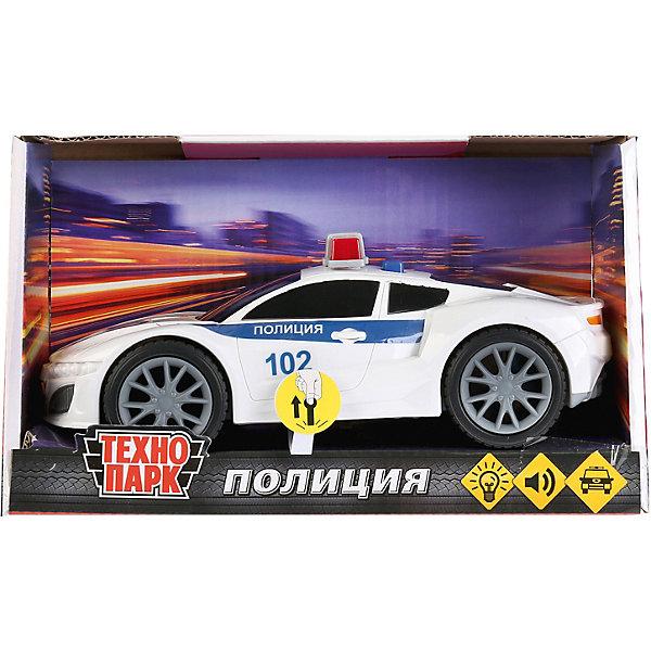 ТЕХНОПАРК Машинка Технопарк Спорткар полиция, свет и звук, 19 см