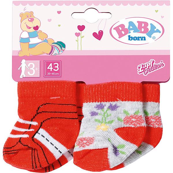 Zapf Creation Одежда для куклы Baby born Носки, 2 пары, красные