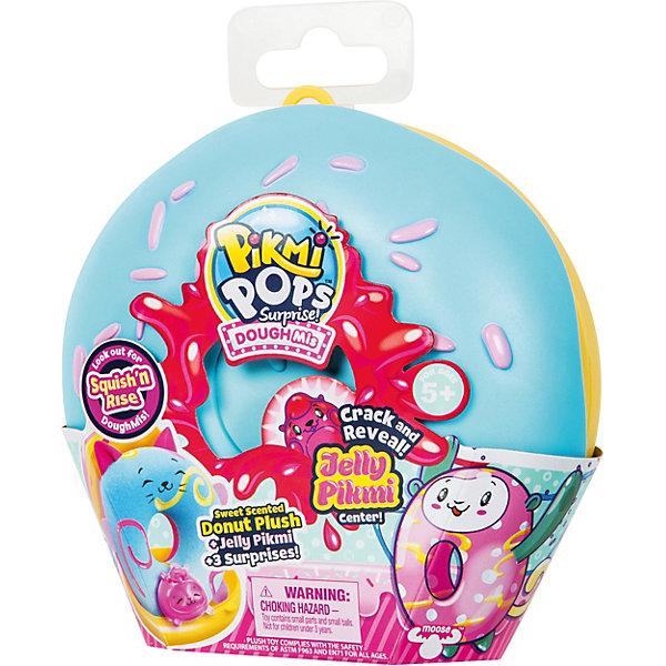 Купить Игровой набор Moose Pikmi Pops Большой плюшевый пончик , голубой, Китай, синий, Женский