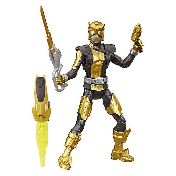 Купить Игровая фигурка Power Rangers Beast Morphers Золотой Рейнджер с боевым ключом, 15 см, Hasbro, Китай, разноцветный, Унисекс