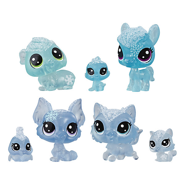 """Hasbro Набор фигурок Littlest Pet Shop """"Холодное царство"""", 7 голубых петов"""