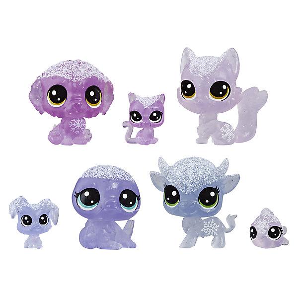 """Hasbro Набор фигурок Littlest Pet Shop """"Холодное царство"""", 7 лиловых петов"""