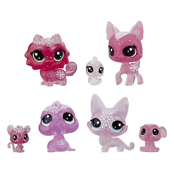 "Hasbro Набор фигурок Littlest Pet Shop ""Холодное царство"", 7 розовых петов"