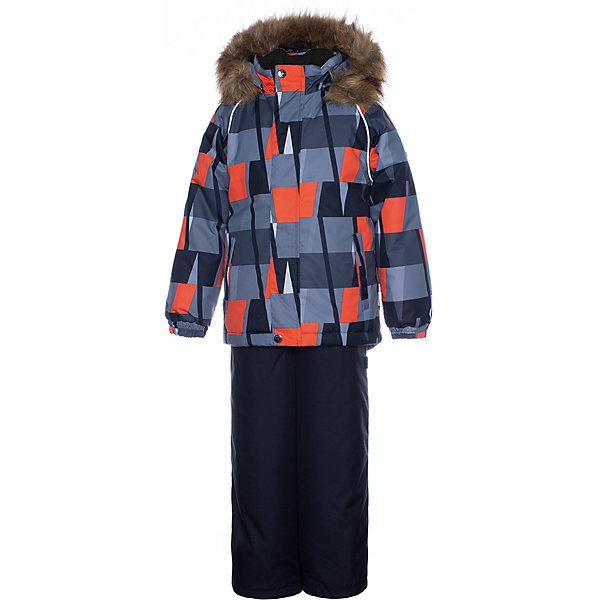 Купить Комплект Huppa Winter: куртка и полукомбинезон, Эстония, черный, 140, 122, 134, 128, 116, Мужской