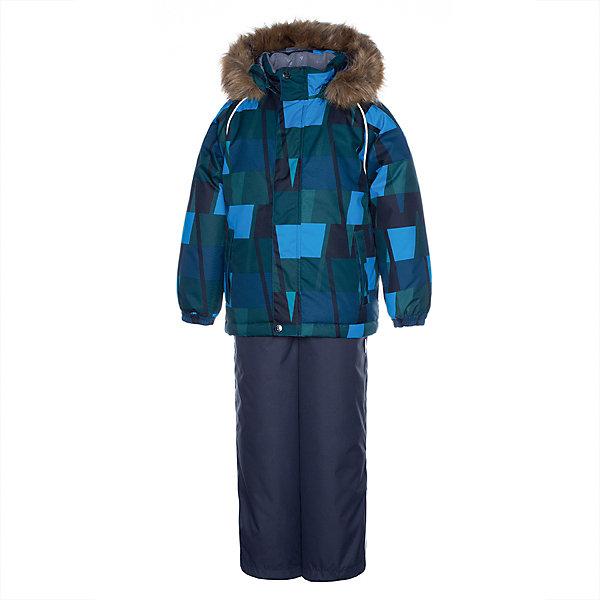 Купить Комплект Huppa Winter: куртка и полукомбинезон, Эстония, бирюзовый, 110, 134, 128, 116, 122, 140, Мужской