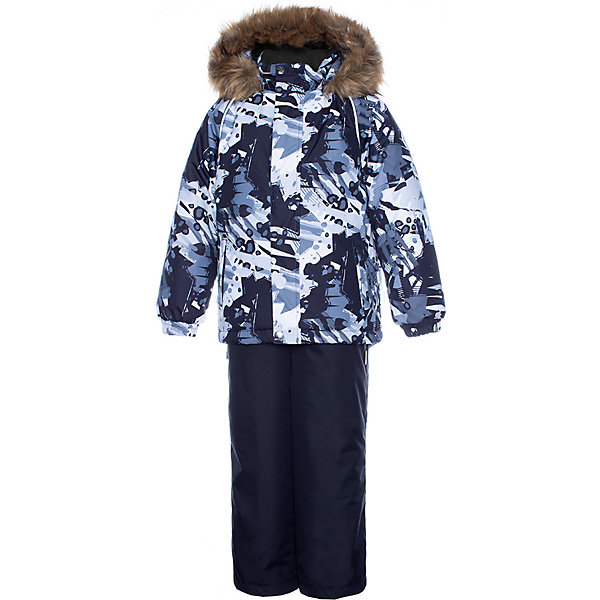 Купить Комплект Huppa Winter: куртка и полукомбинезон, Эстония, черный, 122, 134, 116, 140, 128, Мужской
