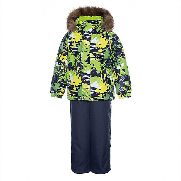 Купить Комплект Huppa Winter: куртка и полукомбинезон, Эстония, светло-зеленый, 128, 122, 116, 140, 134, Мужской