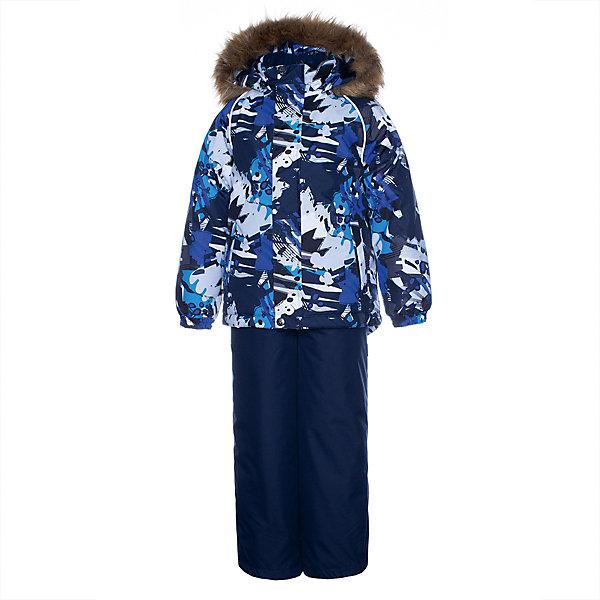Купить Комплект Huppa Winter: куртка и полукомбинезон, Эстония, темно-синий, 128, 122, 140, 116, 134, Мужской